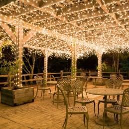 Elegant Christmas Lights Decor For Backyard Ideas 23