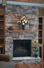 Fabulous Rock Stone Fireplaces Ideas For Christmas Décor 11