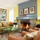 Fabulous Rock Stone Fireplaces Ideas For Christmas Décor 40