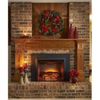 Fabulous Rock Stone Fireplaces Ideas For Christmas Décor 41
