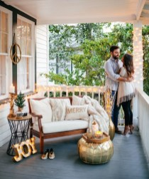 Popular Apartment Balcony For Christmas Décor Ideas 17