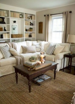 Stylish French Country Living Room Design Ideas 06