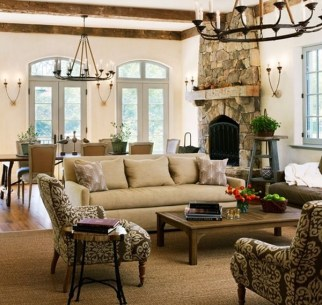 Stylish French Country Living Room Design Ideas 16