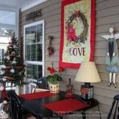 Amazing Front Porch Design Ideas For Valentines Day17
