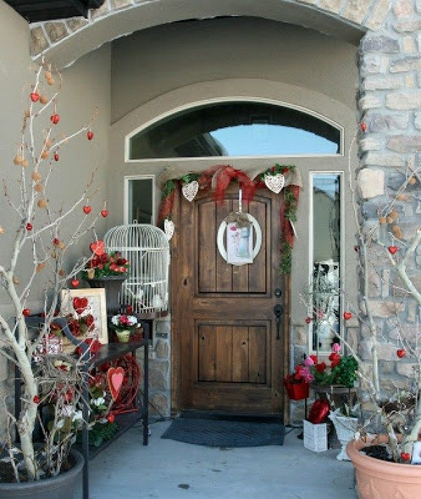 Amazing Front Porch Design Ideas For Valentines Day42