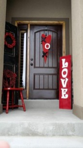 Amazing Front Porch Design Ideas For Valentines Day43
