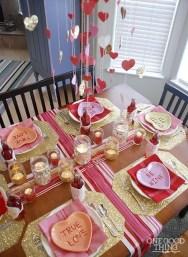 Cheap Valentine Table Decoration Ideas34