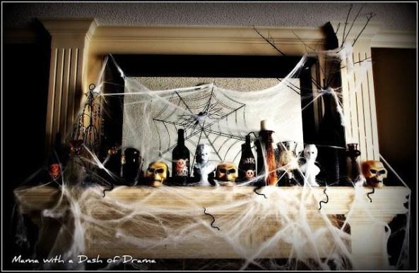 Incredible Halloween Fireplace Mantel Design Ideas33