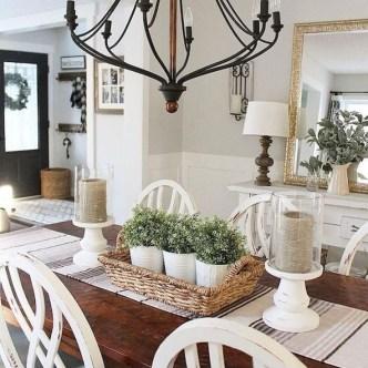 Adorable Farmhouse Dining Room Design Ideas40