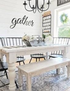 Adorable Farmhouse Dining Room Design Ideas42