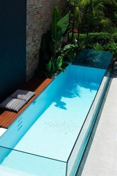 Amazing Glass Pool Design Ideas For Home42
