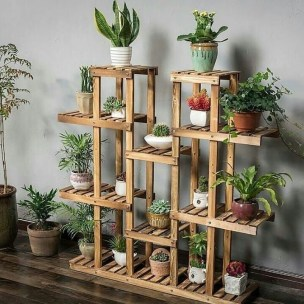Awesome Stand Wooden Plant Ideas23