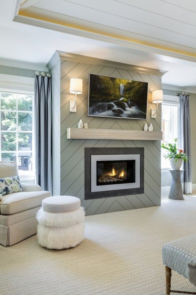 Cool Electric Fireplace Designs Ideas For Living Room33