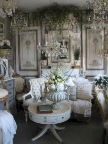 Pretty French Country Living Room Design Ideas31
