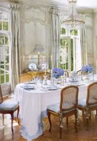 Wonderful French Country Dining Room Table Decor Ideas30