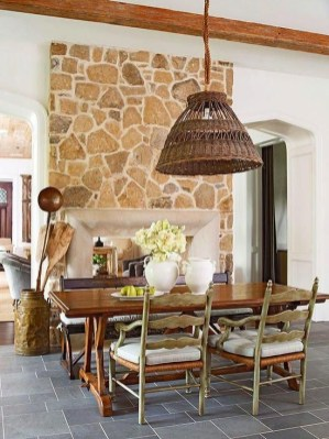 Wonderful French Country Dining Room Table Decor Ideas42