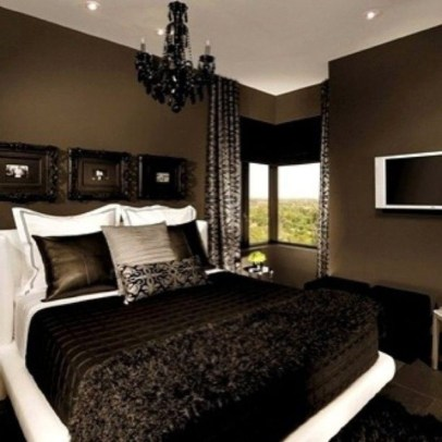 Amazing Black Bedroom Design Ideas For Home06