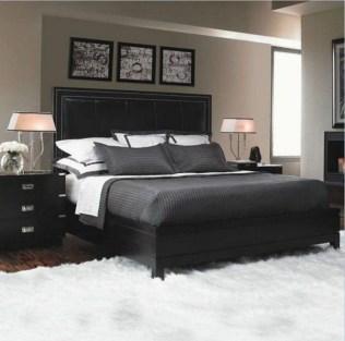 Amazing Black Bedroom Design Ideas For Home39