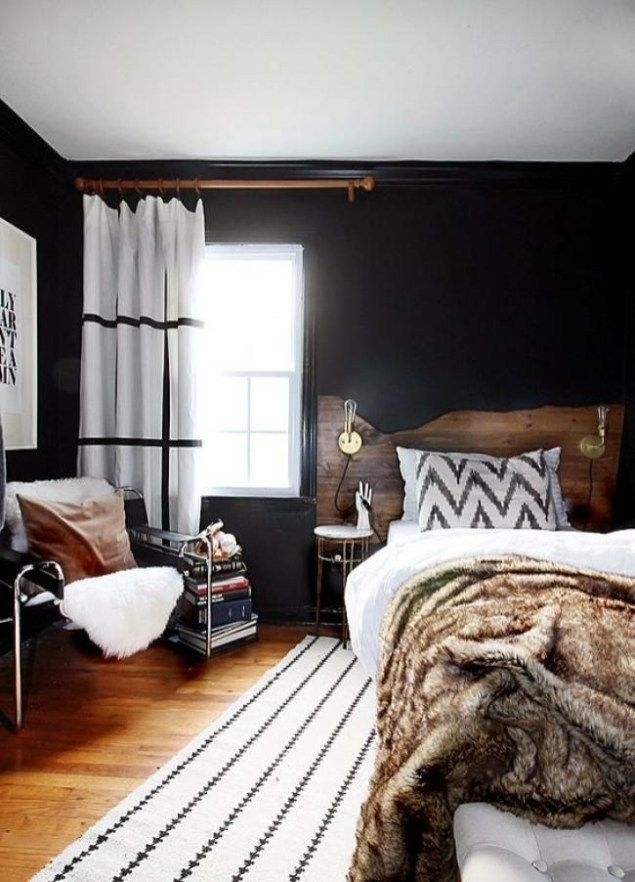 Amazing Black Bedroom Design Ideas For Home43