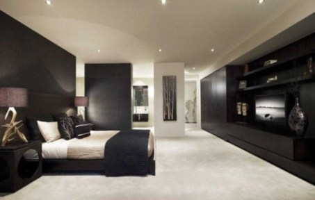 Amazing Black Bedroom Design Ideas For Home44