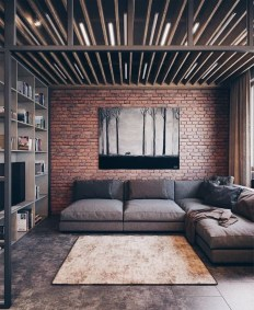 Creative Industrial Living Room Designs Ideas16