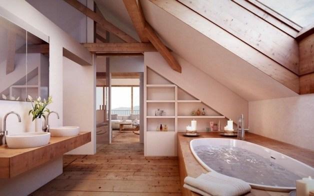 Fascinating Small Attic Bathroom Design Ideas18