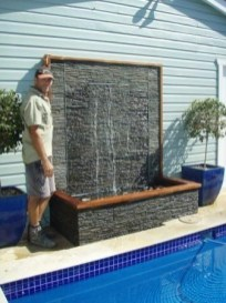 Stylish Outdoor Water Walls Ideas For Backyard26