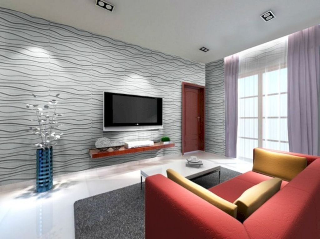 41 Unique Wall Tiles Design Ideas For Living Room   ZYHOMY