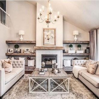 Beautiful Farmhouse Living Room Decor Ideas09