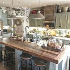 Cool Farmhouse Kitchen Color Design Ideas36