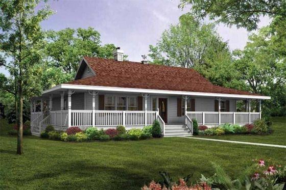 Creative Farmhouse House Plans Ideas With Wrap Around Porch11