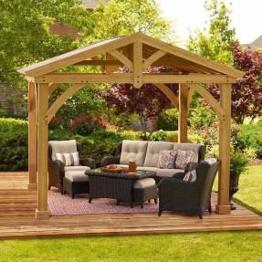 Modern Wood Pavilion Design Ideas For Backyard08
