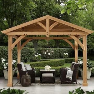Modern Wood Pavilion Design Ideas For Backyard12