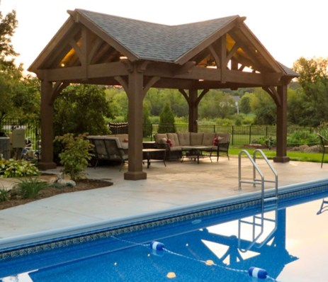 Modern Wood Pavilion Design Ideas For Backyard25