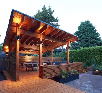 Modern Wood Pavilion Design Ideas For Backyard38