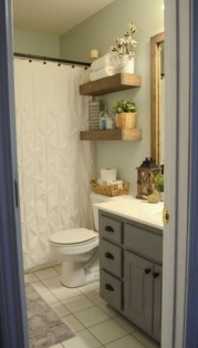 Outstanding Bathroom Makeovers Ideas For Small Space20