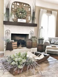 Unique Farmhouse Fireplace Design Ideas For Living Room01