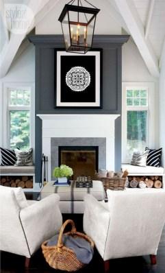 Unique Farmhouse Fireplace Design Ideas For Living Room07
