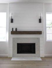 Unique Farmhouse Fireplace Design Ideas For Living Room23