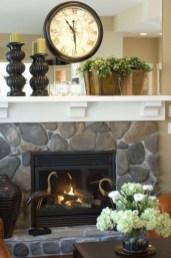Unique Farmhouse Fireplace Design Ideas For Living Room35