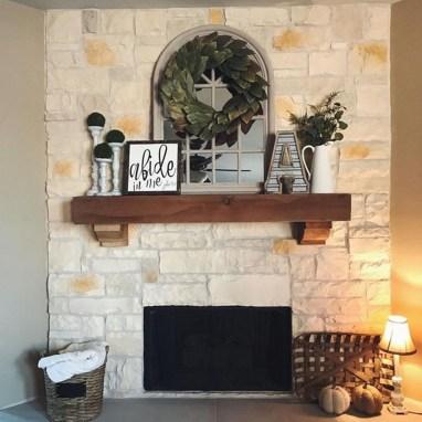 Unique Farmhouse Fireplace Design Ideas For Living Room39