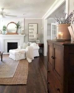 Unique Farmhouse Fireplace Design Ideas For Living Room42
