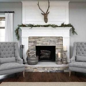 Unique Farmhouse Fireplace Design Ideas For Living Room44