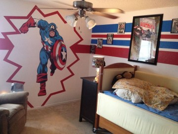 Best Memorable Childrens Bedroom Ideas With Superhero Posters 11
