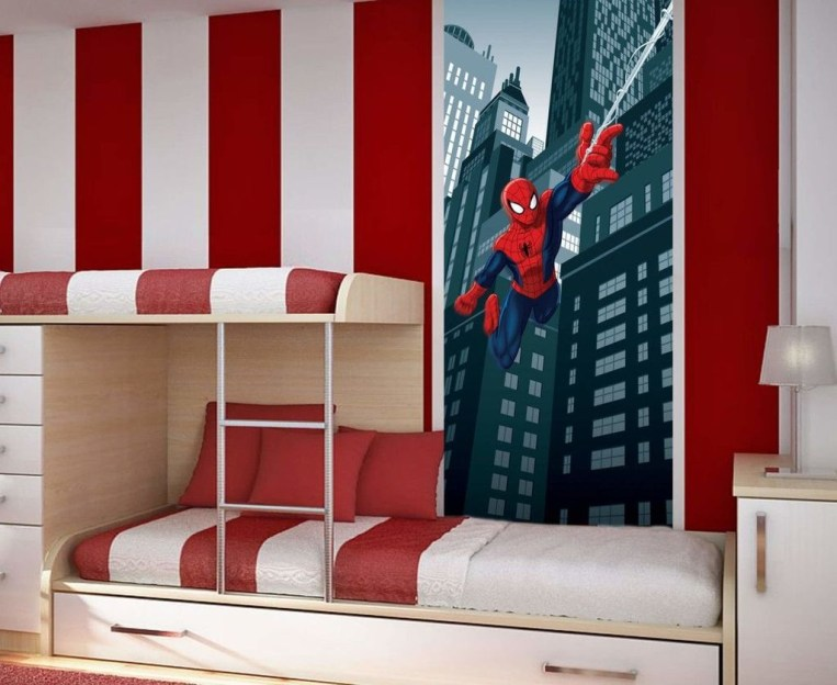 Best Memorable Childrens Bedroom Ideas With Superhero Posters 14