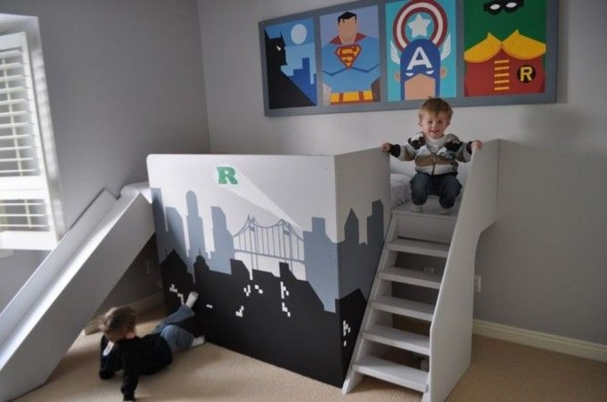 Best Memorable Childrens Bedroom Ideas With Superhero Posters 16