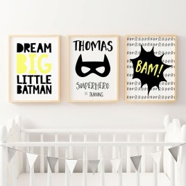 Best Memorable Childrens Bedroom Ideas With Superhero Posters 23