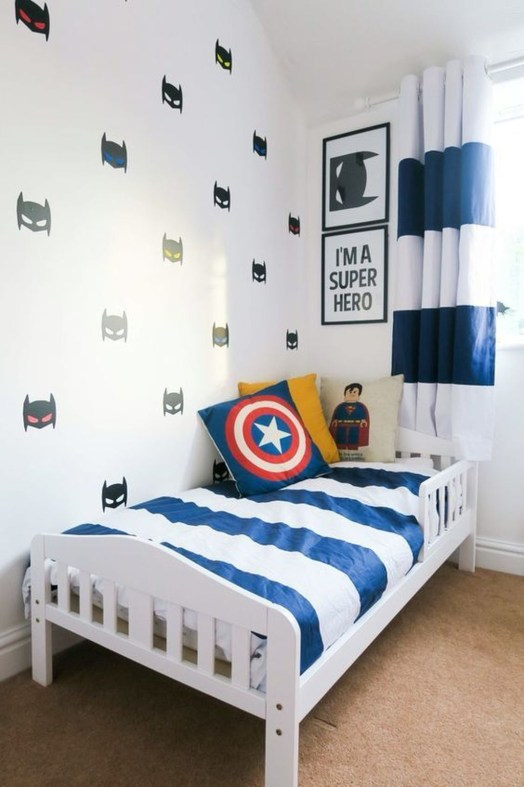 Best Memorable Childrens Bedroom Ideas With Superhero Posters 27