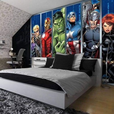 Best Memorable Childrens Bedroom Ideas With Superhero Posters 42