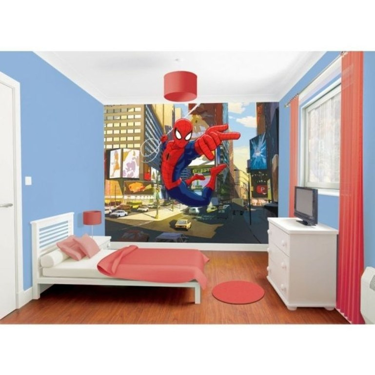Best Memorable Childrens Bedroom Ideas With Superhero Posters 45